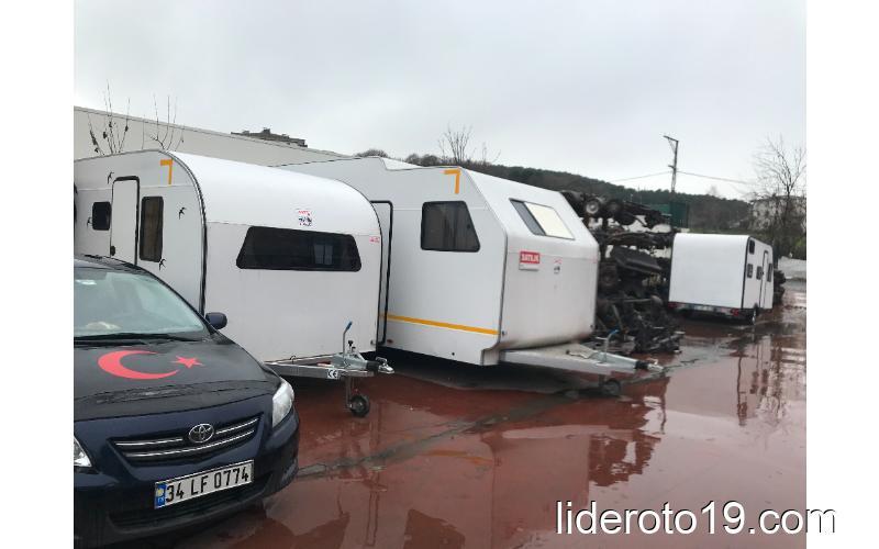 lider marka O2 Belgeli çift dingil çekme karavan